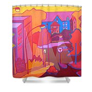 Roslindale Never Looked So Red Shower Curtain