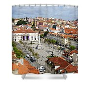 Rossio Square Shower Curtain