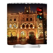 Rossio Train Station Shower Curtain