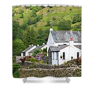 Rosthwaite In The Valley Of Borrowdale Lake District Shower Curtain