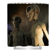 Roswell Visiting Hour Shower Curtain
