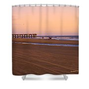 Rosy Evening At Isle Of Palms Shower Curtain
