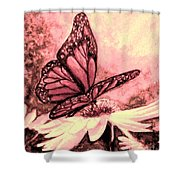 Rosy Glow Shower Curtain