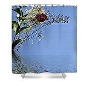Rosy Reflection - Left Side Shower Curtain