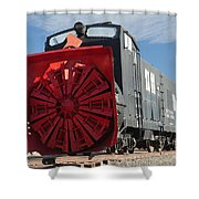 Rotary Snow Thrower 99201 In The Colorado Railroad Museum Shower Curtain