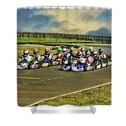 Rotax Challenge Of The Americas Sr. Max Grid Shower Curtain