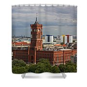 Rotes Rathaus Berlin Shower Curtain