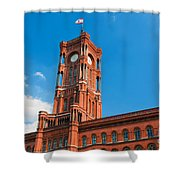 Rotes Rathaus The Town Hall Of Berlin Germany Shower Curtain
