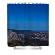 Rothbury Town At Dusk Shower Curtain