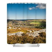 Rothbury Town From The Terraces Shower Curtain