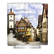 Rothenburg Marketplatz Shower Curtain