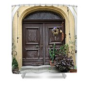 Rothenburg Ob Der Tauber Door  Shower Curtain