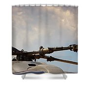 Rotor Navy Helicopter. Shower Curtain