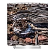 Rotted Railroad Tie Shower Curtain