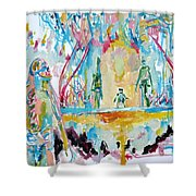 Rotten Friends-we Love Them All Shower Curtain