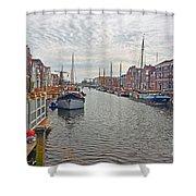 Rotterdam Canal Shower Curtain
