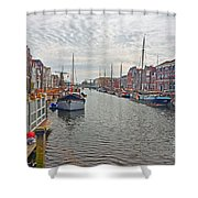 Rotterdam Canal Shower Curtain