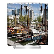 Rotterdam City Marina Shower Curtain
