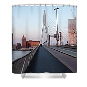 Rotterdam Downtown Skyline At Sunset Shower Curtain