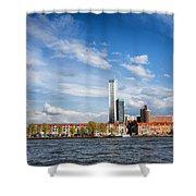 Rotterdam Skyline In Netherlands Shower Curtain