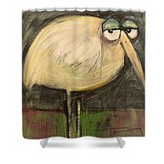 Rotund Bird Shower Curtain