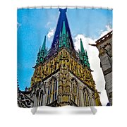 Rouen Church Steeple Shower Curtain