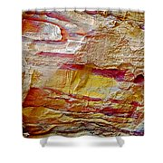 Rough And Red Rock In Petra-jordan  Shower Curtain