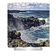 Rough Rocks Near Hana Shower Curtain