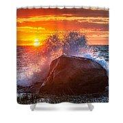 Rough Sea Square Shower Curtain