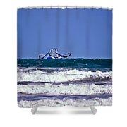 Rough Seas Shrimping Shower Curtain