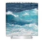 Rough Waves 1 Offshore Shower Curtain