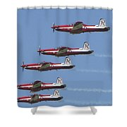 Roulettes In Tight Formation Shower Curtain