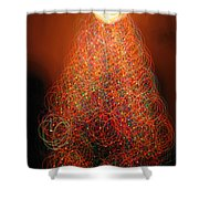 Round And Round The Christmas Tree Shower Curtain