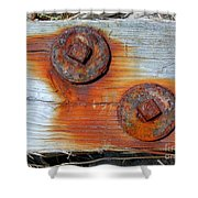 Round And Rusted Shower Curtain