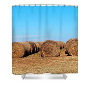 Round Bales Of Hay Shower Curtain