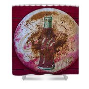 Round Coke Sign Shower Curtain