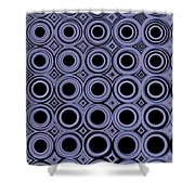 Round In Circles Shower Curtain
