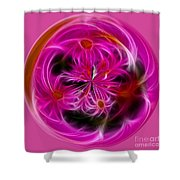 Round Pink And Pretty By Kaye Menner Shower Curtain