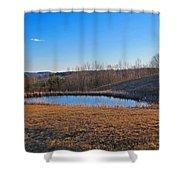 Round Pond Shower Curtain