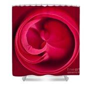 Round Rose Shower Curtain