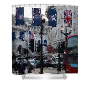 Round The Piccadilly Shower Curtain