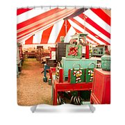 Round Top Texas Under The Big Tent Shower Curtain