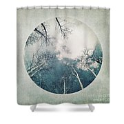 round treetops III Shower Curtain
