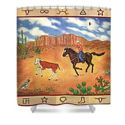 Round Up And Cattle Brands Shower Curtain