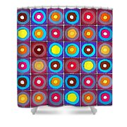 Round Up The Squares Shower Curtain