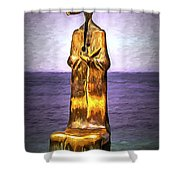 Roundabout Of The Sea Shower Curtain