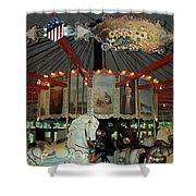 Rounding Board Slater Park Carousel Shower Curtain