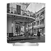 Rouses Market Monochrome Shower Curtain