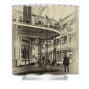 Rouses Market Sepia Shower Curtain