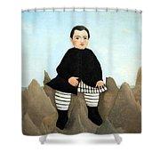 Rousseau's Boy On The Rocks Shower Curtain